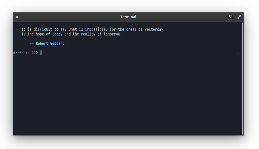 GNOME Terminal profile installed